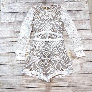 Alexis lace long sleeve romper